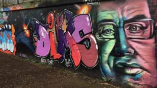 Graffiti of Stephen Hawking