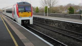 A Transport for Wales train