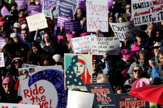تظاهرات امسال زنان در لاس وگاس