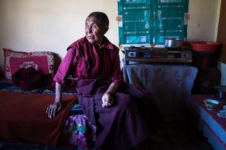 Lobzang Dolma, 85, is the oldest nun