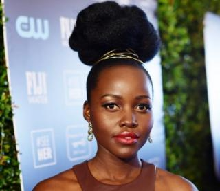 Lupita Nyong'o at the 25th Annual Critics' Choice Awards at Barker Hangar Santa Monica airport on January 12, 2020 in Santa Monica, California