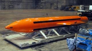 การทดสอบระเบิด GBU-43/B เมื่อปี 2003 ในรัฐฟลอริดา