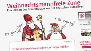 A grab from the Father Christmas-Free Zone website