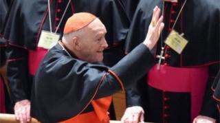 Теодор МакКаррік був членом колегії кардиналів Ватикану, яка обирає папу Римського
