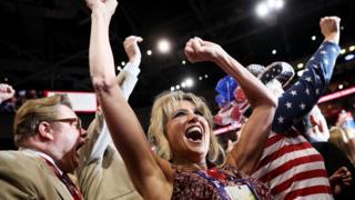 Celebración en la Convención Republicana