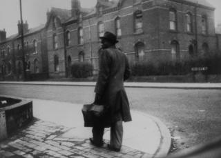 A man arrives in Birmingham from Jamaica in January 1955