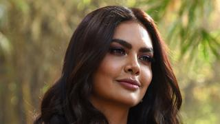 """Indian Bollywood actress Esha Gupta poses for photographs during the launch of her new music video """"Get Dirty"""" in Mumbai on January 11, 2019"""