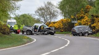 A96 road accident