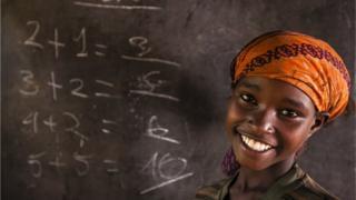 afrikalı kız çocuğu