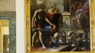 أحد الأعمال الفنية للرسام الإيطالي غورتشينو (1591 - 1666)