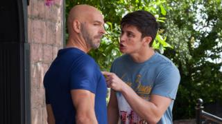 Buster Smith, played by Nathan Sussex (left) with Ollie Morgan, played by Aedan Duckworth