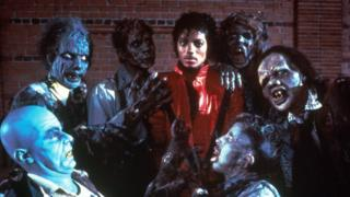 Michael Jackson in the video for Thriller