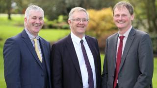 Victor Chestnutt deputy president, Ivor Ferguson president, and David Brown, deputy president.
