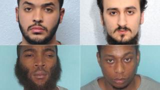 Clockwise from top left - Tarik Hassane, Suhaib Majeed, Nathan Cuffy and Nyall Hamlett