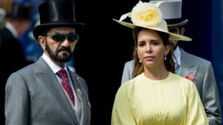 Princess Haya and Sheikh Mohammed at Epsom Derby