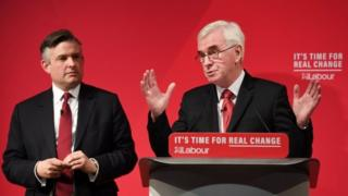 Jonathan Ashworth with John McDonnell