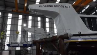 New floating bridge