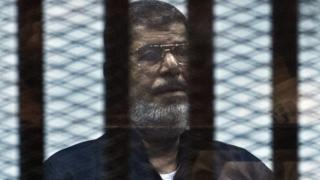 Egyptian ousted Islamist president Mohamed Morsi in 2015