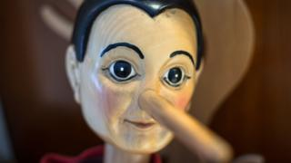 Pinocchio model with large nose