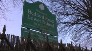 Bedford Road Lower School sign