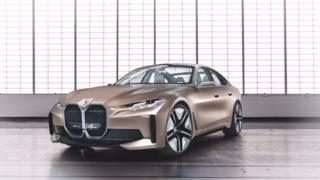 BMW launches i4 electric concept car online.