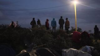 Migrants at Calais on 2 September 2015