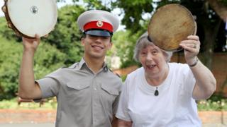 Marian Le May at Royal Marines School of Music in Portsmouth.