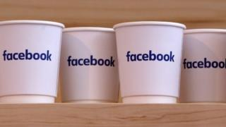 Cups printed with Facebook logo