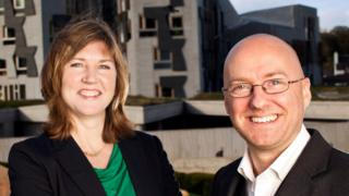 Alison Johnstone and Patrick Harvie
