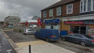 The fire broke out at about 15:20 GMT on Ponteland Road