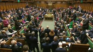 House of Commons during prime minister's questions