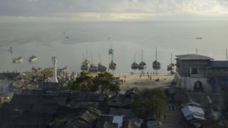 Bagamoyo harbour in Tanzania