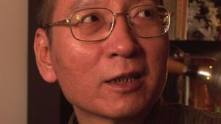 Activist Liu Xiaobo seen in a video from 2008