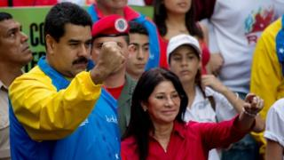 Venezuelan President Nicolas Maduro and first lady Cilia Flores (18 October 2014)