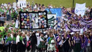 The march in Edinburgh