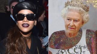 Rihanna and The Queen (Rihanna/Instagram)