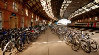 Bikes left at Bristol Temple Meads