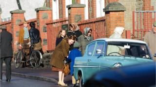 The filming in Aberfan