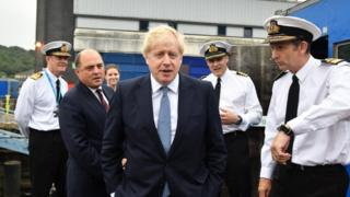 Boris Johnson at Faslane