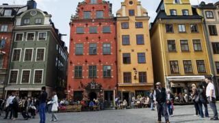 Buildings in the Swedish capital Stockholm's old city