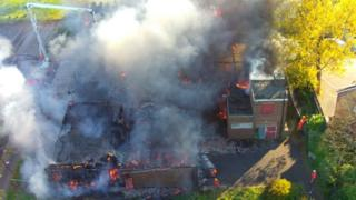 Fire at disused school