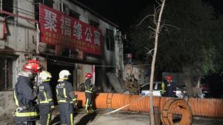 北京大兴西红门镇新建村发生火灾