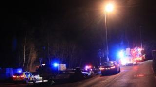 The scene of the fatal crash in Caerleon