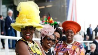 Ladies in hats at Royal Ascot