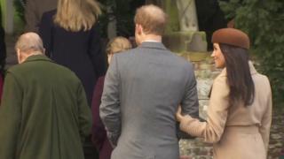 Meghan Markle arrives with Prince Harry