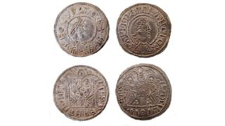 Coins similar to those seized by police
