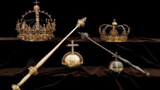 корона Карла IX и его супруги
