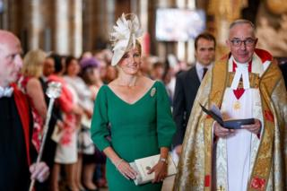 Sophie, Countess of Wessex attends a service in Westminster Abbey to mark the 70th anniversary of the NHS