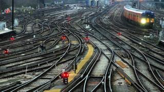 Railway tracks near Clapham Junction in London