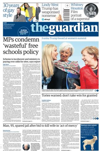 Guardian front page - 26/04/17